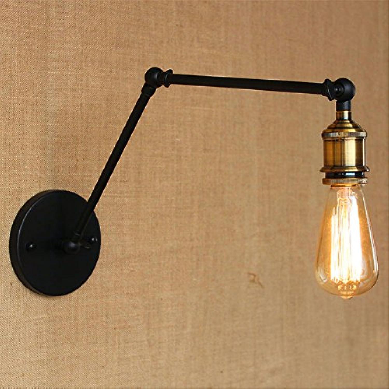 StiefelU LED Wandleuchte nach oben und unten Wandleuchten Im Dorf gibt es keine Lampe Spiegel vorne Lampenkopf Studie Galerie der kunst Eisen mit langem Arm Wandleuchte, Schwarz