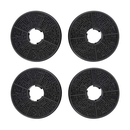 4 filtros de carbón activo DL-pro para campana extractora Respekta MIZ0058 PKM CF130 Candy 49040890 35602288