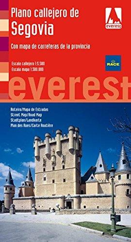 Plano callejero de Segovia. Con mapa de carreteras de la provincia: Escala Callejero: 1:5.500. Escala Mapa: 1:300.000. (Planos callejeros / serie roja)