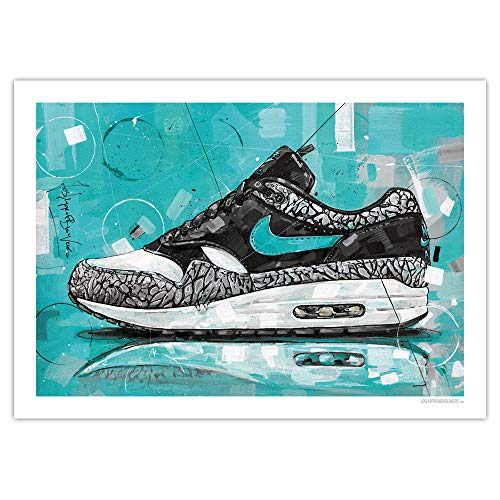 JosHoppenbrouwers Nike Air Max 1 Atmos Elefant Druck (70 x 50 cm)