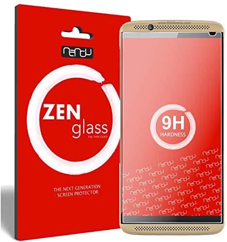 ZenGlass [2 Stück Flexible Glas-Folie kompatibel mit ZTE Axon 7 Mini Panzerfolie I Bildschirm-Schutzfolie 9H I (Kleiner Als Das Gewölbte Bildschirm)