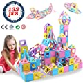 HLAOLA Magnetic Blocks 133PCS Upgrade Magnetic Building Blocks Magnetic Tiles Educational Toys Tiles Set for Kids Magnet Stacking Toys for Kids Children Age 3 4 5 6 7 Year Old (3D Macaron Colors) from HLAOLA