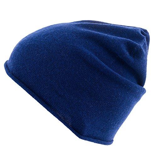 Golden Goat Strickmütze Arley Beanie Unisex Winter Mütze 100% Kaschmir Wolle Sailor Blue