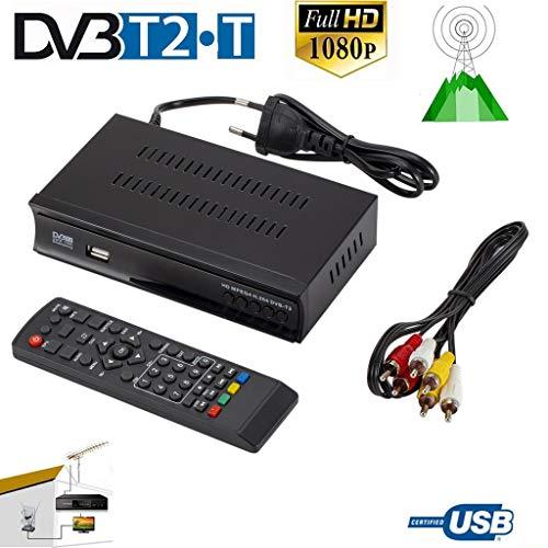 Alician DVB-T2 TV Tuner Terrestrische Ontvanger DVB S Digitale Satelliet Ontvanger Ondersteuning H.264 AC3 Dobly