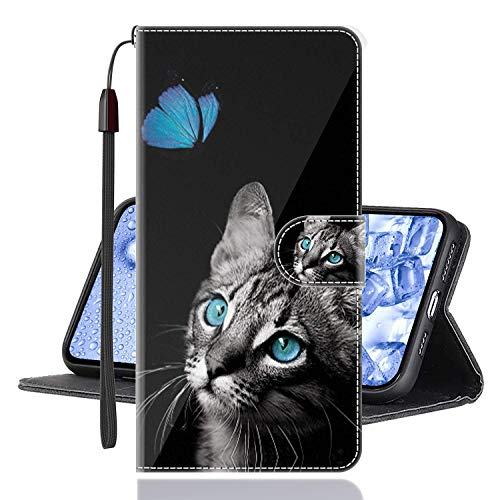 Sinyunron Klapphülle für Handy Xiaomi Mi Mix 3 5G Hülle Leder Brieftasche Handytasche,Klapptasche Lederhülle Hüllen Hülle Schutzhülle Tasche Cover (Hülle-02B)