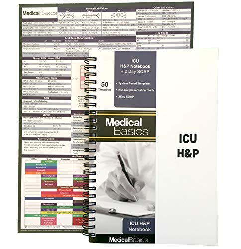 ICU H&P Notebook with 2 Day SOAP - Medical...