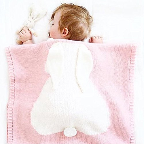 Butterme Newborn Baby Wrap Soft Warmer Knit Blanket Swaddle Sac de Couchage Sleep Sack Stroller Wrap with Love Heart Design pour 0-12 Mois Bébé