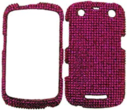 FULL DIAMOND CRYSTAL STONES COVER CASE FOR BLACKBERRY CURVE 9350 9360 9370 HOT PINK