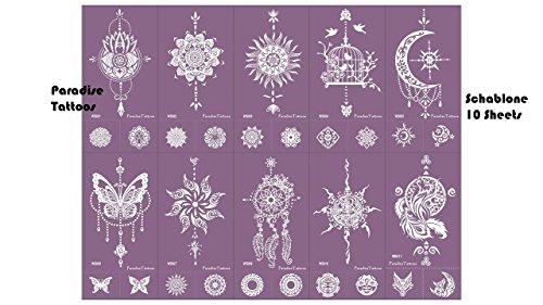 Traumfänger Mandala Schmetterling Tattoo Schablone Mesh Tattoo Vorlage Wiederverwendbar 10 Sheets Set Purple