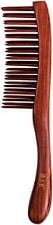 TAN MUJIANG Swartzia Double Teeth Wooden Combs Natural Antistatic Head Massager Health Care Hair Hairbrush for Thick, Thin, Curly, Straight