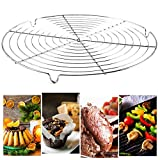 Cicony Grille de Barbecue 30cm, Grille de Barbecue Ronde Grille de grillade Grille de Grillage Grille grillagée pour Barbecue