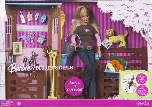 Barbie Reitstall mit Barbiepuppe