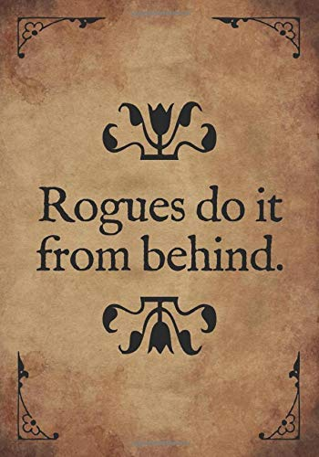 RPG Journal: Mixed paper: Ruled, graph, hex: For role playing gamers: Notes, tracking, mapping, terrain plans: Rogues do it from behind funny cover