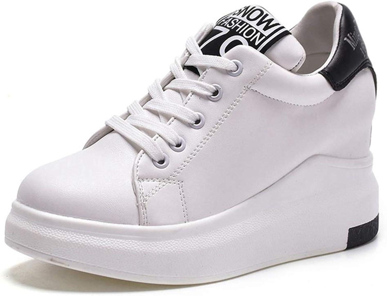 CYBLING Women's Casual Platform Wedges Sport shoes Comfort Hidden Heel Lace Up Sneakers