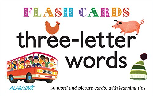 Flash Cards. Three-Letter Words