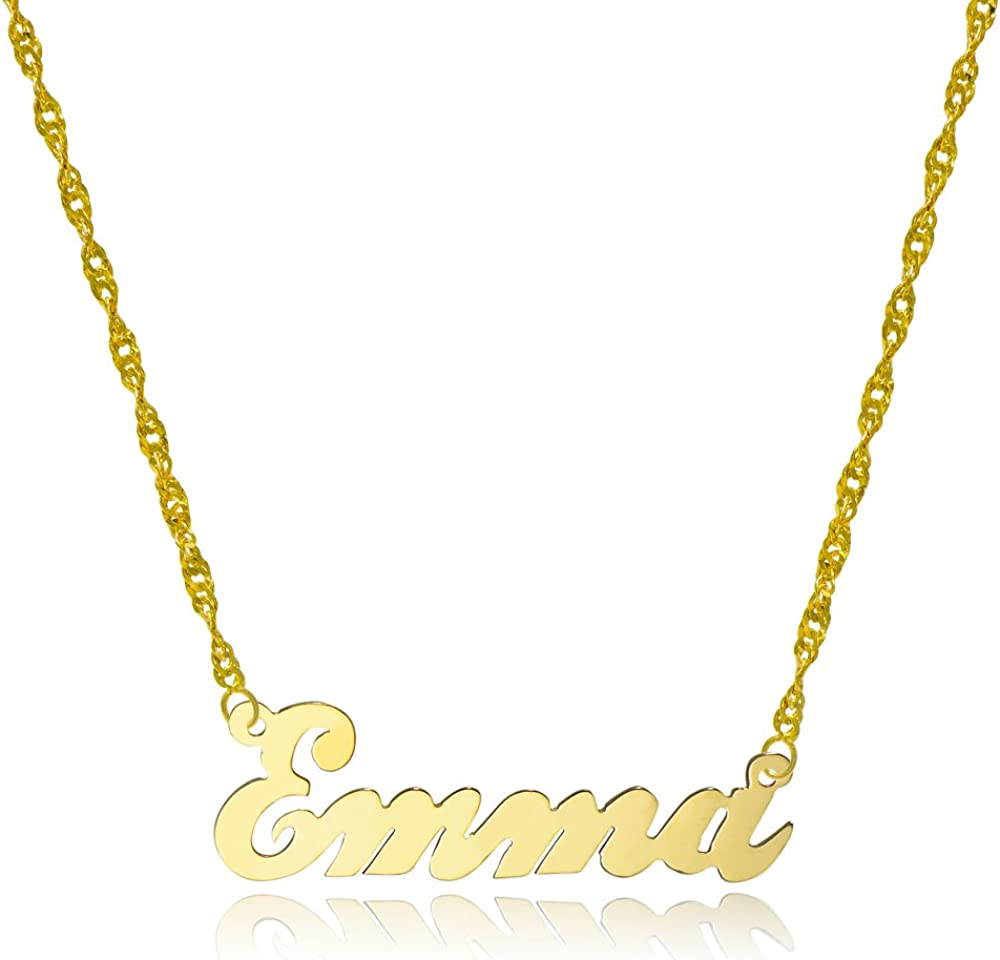 Style 7 10k Yellow Gold Personalized Name Necklace Custom Made Any Name