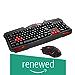 (Renewed) Redragon S101 Vajra USB Gaming Keyboard, CENTROPHORUS USB Gaming Mouse, Keyboard Set