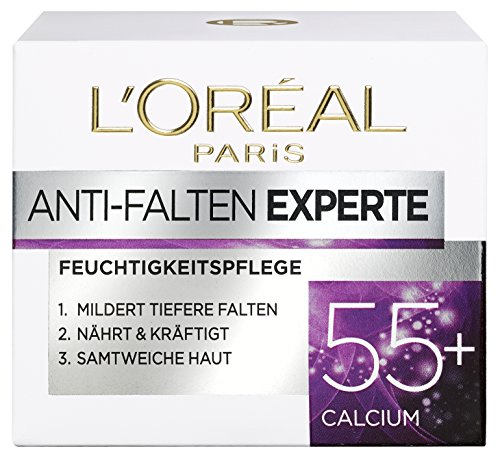 L'Oréal Paris Anti-Falten Experte Feuchtigkeitspflege, für 55+, für straffere und samtweiche Haut, 50 ml
