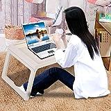 Dongbin Frühstück Fach Plastikbehälter Beine Klappbett Klappablagetisch Laptop Bett Tablet Service Kniend Lesen Sofa Tisch Tray,Weiß - 5
