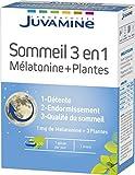 Juvamine Sommeil Mélatonine + Plantes 3 en 1 30 Gélules