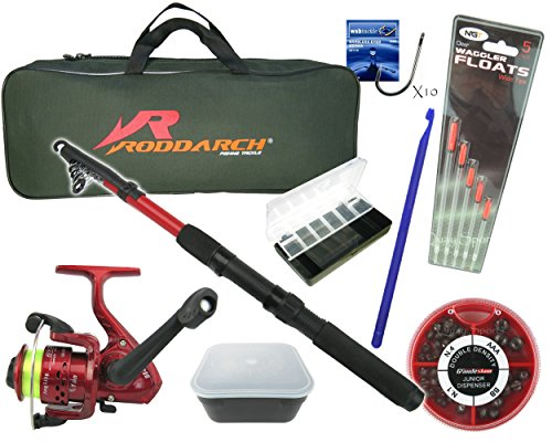 Roddarch Complete Junior or Travel Deluxe Fishing Kit