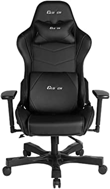 Clutch Chairz - Ergonomic Gaming Chair, Video Game Chairs, Office Chair, High Chair and Lumbar Pillow for Computer Desk - Bla