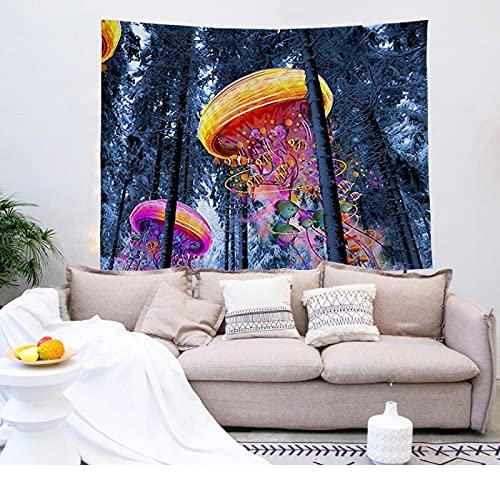 NTtie Tapiz para Colgar en la Pared, Tapestry, Figuras de Paisaje de impresión Digital para Tapiz de decoración de Dormitorio