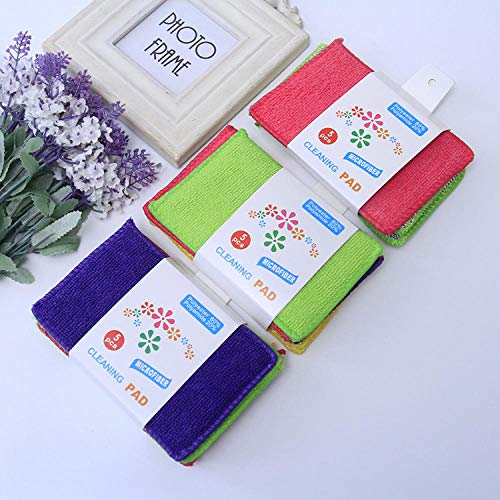 voor Keuken Single Side Dish Handdoek Single Side Sponge Microfiber Non Scratch 10 * 15cm