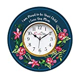 eCraftIndia Round Wooden Special Thanks to Mother Theme Wall Clock (30 cm x 30 cm, KWC934)