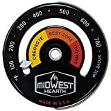 stove magnetic - Midwest Hearth Wood Stove Thermometer - Magnetic Stove Top Meter