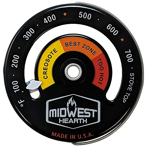 Cheapest Prices! Midwest Hearth Wood Stove Thermometer - Magnetic Stove Top Meter