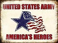 のためのガレージホームガーデンストアバーカフェ&イーキュー、米国陸軍、面白い鉄絵ヴィンテージメタルプラーク装飾警告サイン吊りアートワークポスター用バーパーク