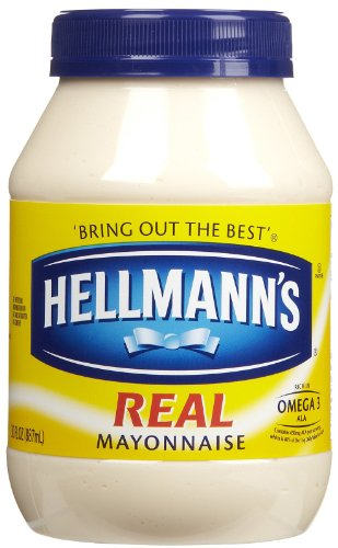 Hellmann's Real Mayonnaise Plastic Jar 30 oz (Pack of 15)