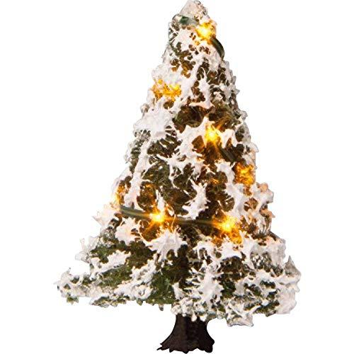 Beleuchteter Weihnachtsbaum, verschneit, mit 10 LEDs, 5 cm hoch