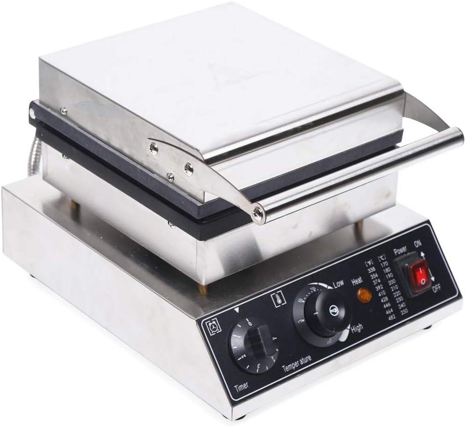 Gaufrier professionnel avec plaques de cuisson antiadh/ésives pour c/œurs belges avec bo/îtier en acier inoxydable 50-300 /°C en continu 2 pi/èces