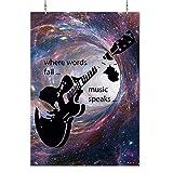 HAPPY FREAKS Poster 'Gitarre' bunt DIN A2 - Plakat ohne