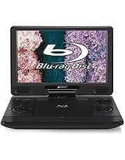 PUMPKIN 12インチ ポータブルブルーレイプレーヤー dvdプレーヤー ポータブル 1080P ドルビーオーディオ搭載 HDMI OUT CPRM AUX 270度回転 USB/SD/MMC/AV-IN対応 18ヶ月保障