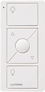 Lutron Pico Remote for Caseta Wireless Smart Dimmer and Plug-In Lamp Dimmer with Favorite Setting, PJ2-3BRL-GWH-L01, White