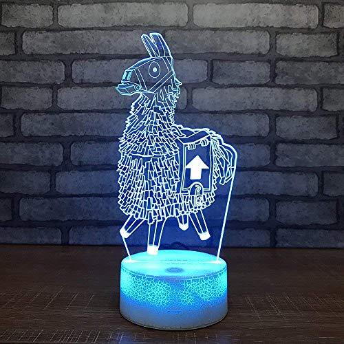 Alpaka Lama Chug Chug Kruik standaard meisjes skins geweer 3D led wit kisters lampvoet 7 kleuren nacht lamp spel fan cadeau wooncultuur