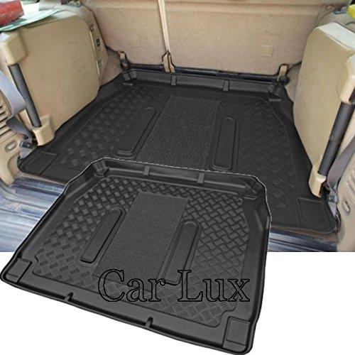 Car Lux AR01917 - Alfombra Cubeta Protector cubre maletero a medida con antideslizante para Discovery II de 7 Plazas