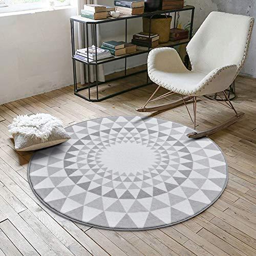 ZAIPP zachte anti-slip rond gebied tapijten, fluweel geometrisch patroon binnen tapijt schommelstoel opknoping ei hangstoel vloer mat tapijt tapijt