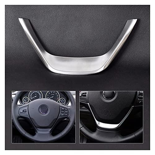 furong Coche Interior del automóvil Cubierta del Volante Cromado Ajuste para BMW 3 Series F30 318 318i 320 1 Serie F20 116i 118 2013 2014 2015 2016