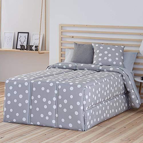 Confecciones Paula - Edredón Conforter Topo - Cama 90 Cm - Color Gris