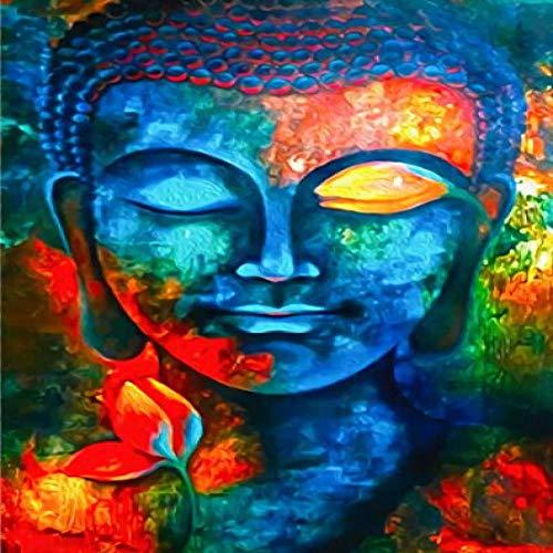 Geiqianjiumai abstract modern schilderij op canvas Boeddha-muur en Boeddha gaan affiche vooraan en bedrukt woonkamerdecoratieschilderij