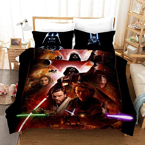 299 Duvet Cover Sets 3D Star Wars Printing Christmas Child Adult Bedding Set 100% Polyester Duvet Cover 3 Pieces With 2 Pillowcases P-US Twin172x218cm