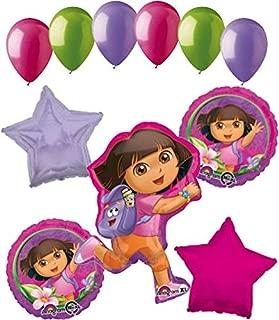 11 pc Dora the Explorer Adventure Balloon Bouquet Happy Birthday Nickelodeon