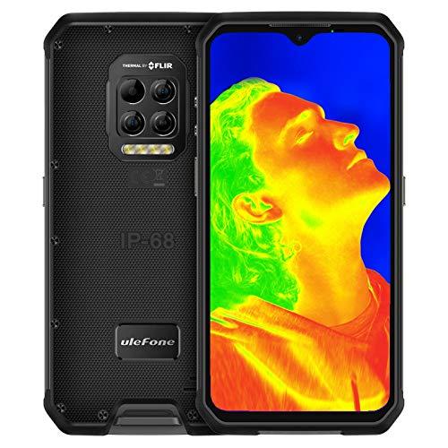 Outdoor Smartphones ohne Vertrag mit FLIR-Wärmebildkamera, Ulefone Armor 9 Handys, Android 10, Octa-Core 8+128GB (Erweiterung auf 2TB), 6,3-Zoll-FHD+Display, 64MP+2MP-Hauptkamera, 6600mAh Akku, Typ C