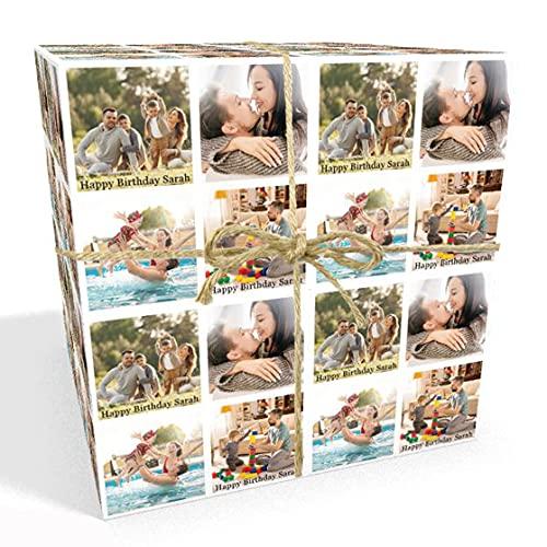 Fotograficzny spersonalizowany papier do pakowania na każdą okazję - dodaj do 4 obrazów i tekstu