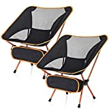 ESUP Camping Chair, Ultralight Portable Compact Folding Beach Chairs with Carry Bag for Outdoor Camping, Backpacking, Hiking (2)