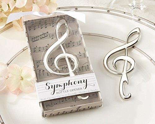 C.X.Y. Flaschenöffner Kronkorkenöffner Silber Violinschlüssel Notenschlüssel Schönes Geschenk (1 er Pack)